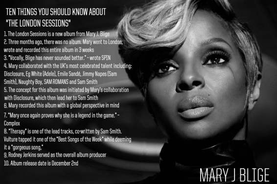 10 things you should know about The London Sessions album by mary j blige