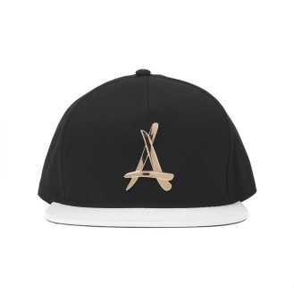 Alumni black and gold logo snapback