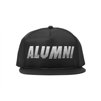 Alumni black and white snapback