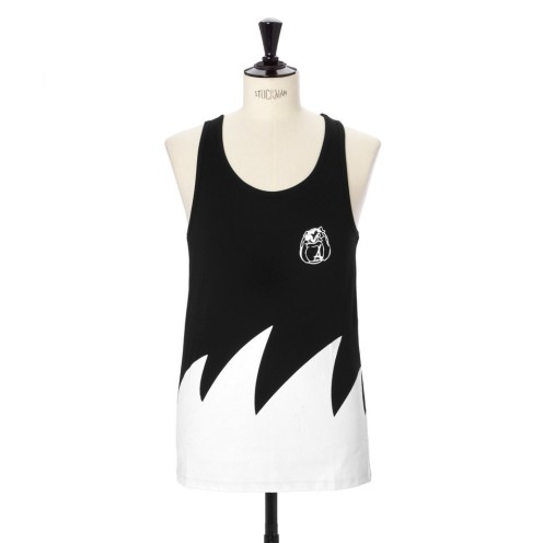 Alumni waves black and white tank top