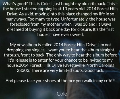 J cole album release party for 2014 forest hills drive album