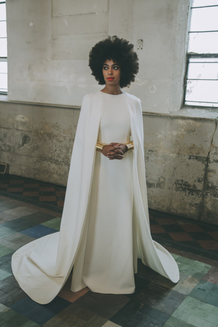 solange knowles wedding dress by Rog Walker