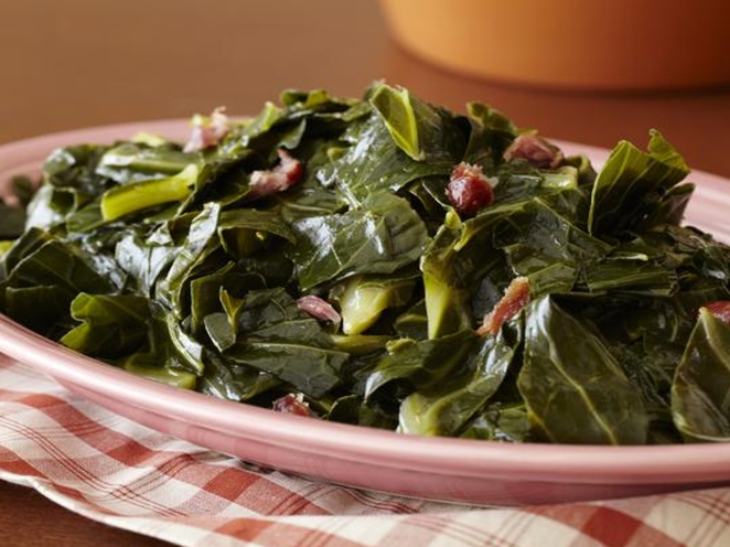 Thanksgiving Dinner Carribean Style - collard greens