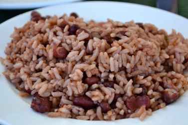 Thanksgiving Dinner Carribean Style - rice & peas