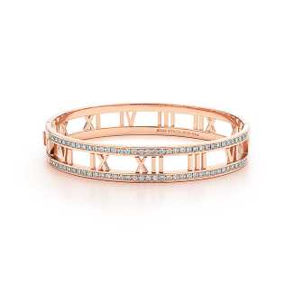 tiffany and co atlas hinged 18k rose gold bangle