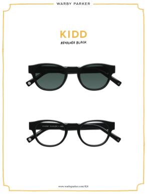 Warby Parker X 826 - Kidd Revolver Black Eyeglasses & Sunglasses