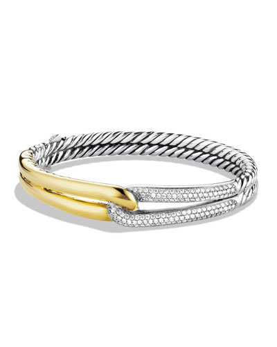 david yurman labyrinth single loop bracelet with diamond s