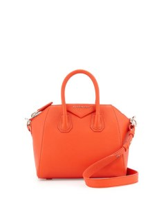 Givenchy antigona mini leather satchel bag in burnt orange