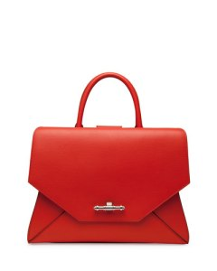 Givenchy obsedia top handle small leather satchel bag in orange