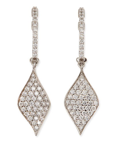 roberto coin 18k pave diamond drop earrings