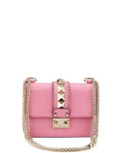 valentino lock micro mini shoulder bag in pink