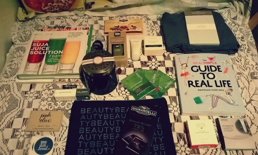 Real Simple Magazine's Beauty and Balance Event Swag Bag Items
