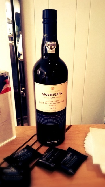 Warre's Vintage Port 2003 Wine bottle at Real Simple Magazine's Beauty and Balance Event
