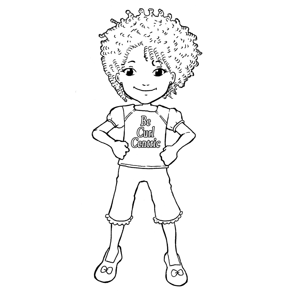 Curl Centric Curly Kids Coloring Book Page