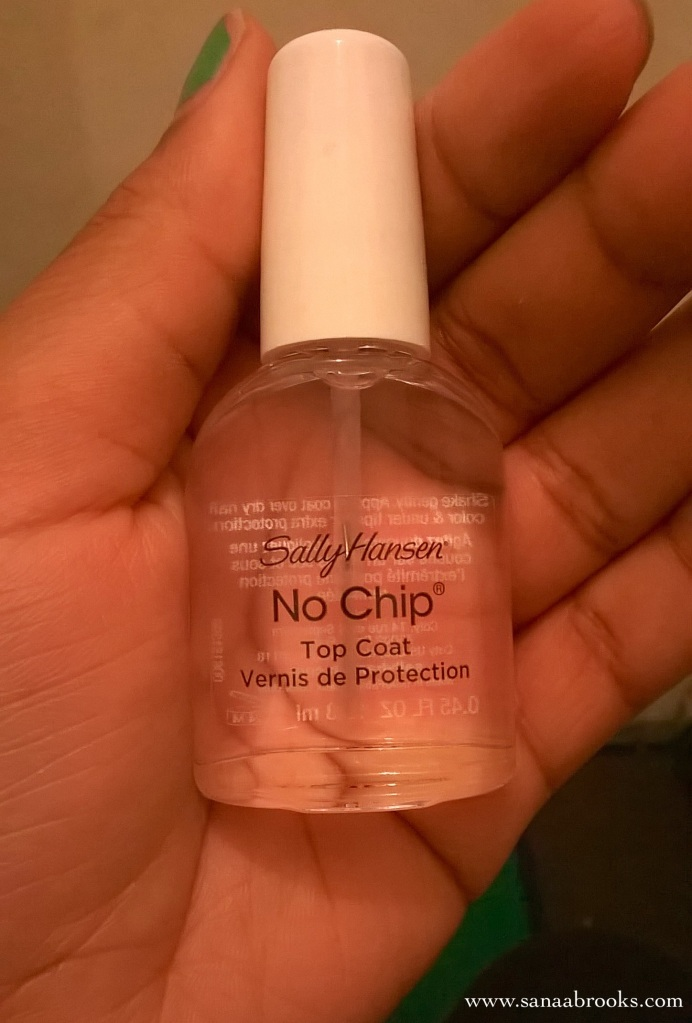 sally hansen no chip top coat nail polish