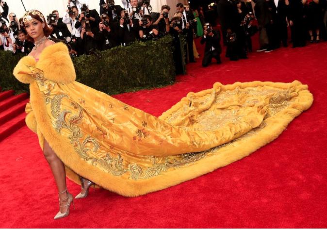 Rihanna dress at the Met Gala