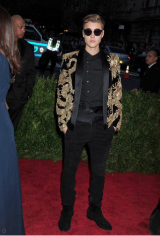 Justin Bieber at the Met Gala