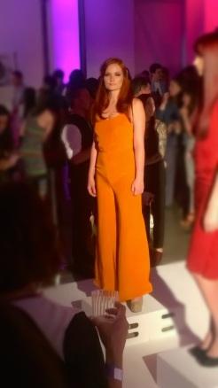 L'Oreal Paris Fashion Show & Concert Event -fashion show orange dress