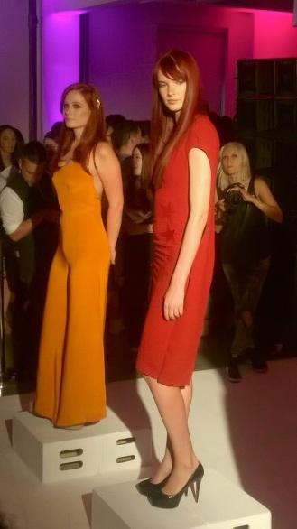 L'Oreal Paris Fashion Show & Concert Event -fashion show red & orange dress