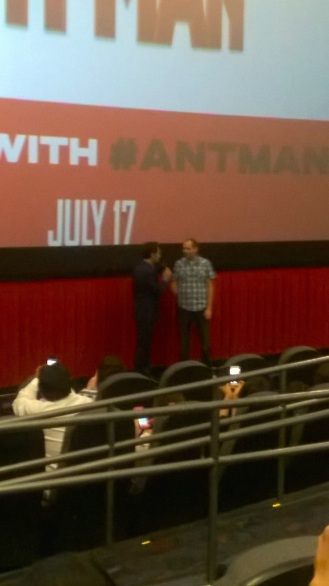 Paul Rudd at the AntMan screening in Times Square NYC