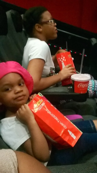 My daughter and sister couldn't wait for the movie to start before they started eating! Lol