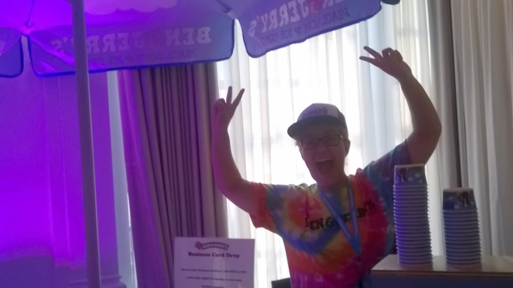 Ben & Jerrys Rep at NYC's Wedding Salon 2015 at the Affina Hotel