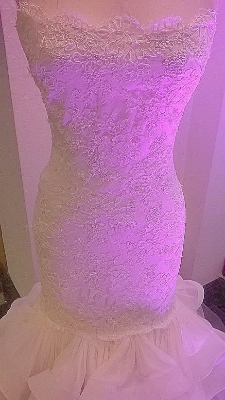 Glamour Closet Dress close up at NYC's Wedding Salon 2015 at the Affina Hotel