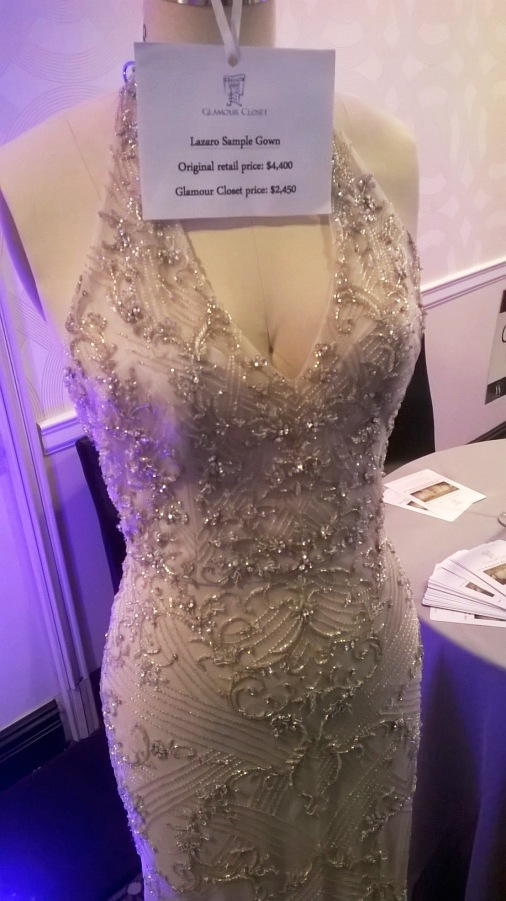 Glamour Closet dress sample at NYC's Wedding Salon 2015 at the Affina Hotel