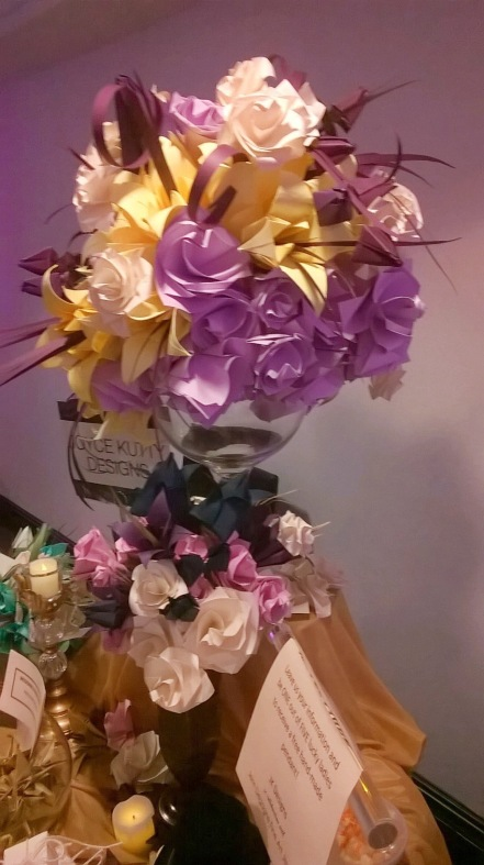 Joyce Kutty Designs Flower Bouquet at NYC's Wedding Salon 2015 at the Affina Hotel