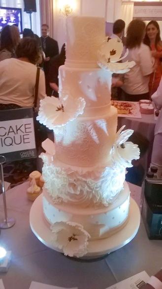Lulu Cake Boutique Cake Sample at NYC's Wedding Salon 2015 at the Affina Hotel