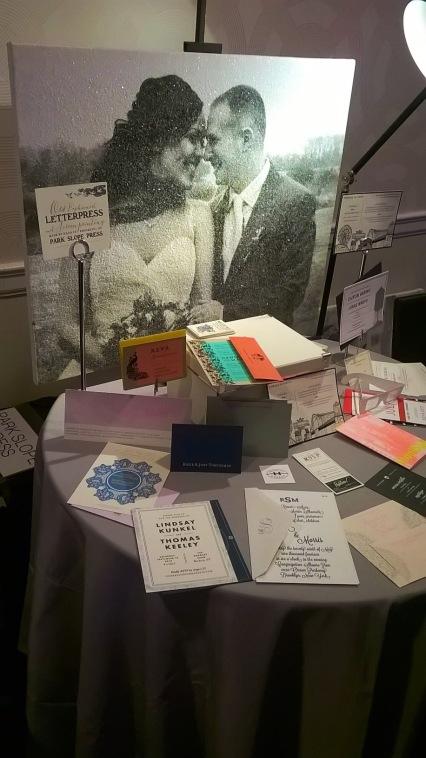Park Slope Press at NYC's Wedding Salon 2015 at the Affina Hotel