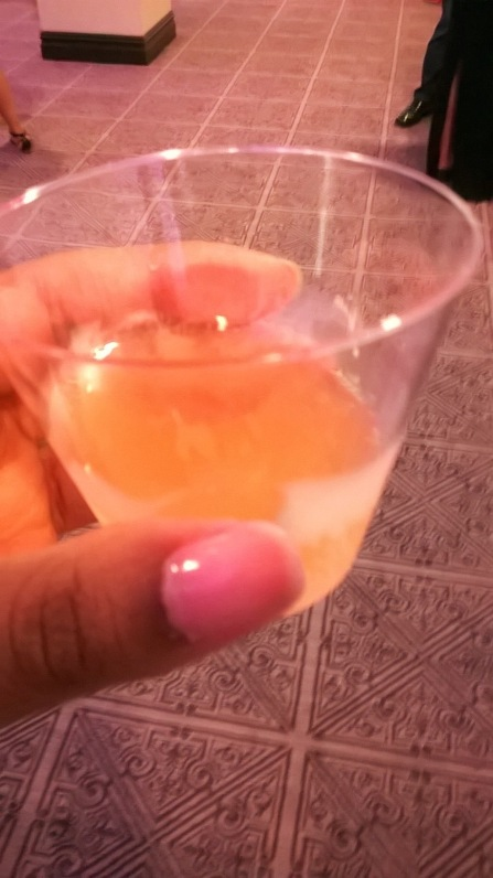 SkinnyGirls Sparklers in cup at NYC's Wedding Salon 2015 at the Affina Hotel