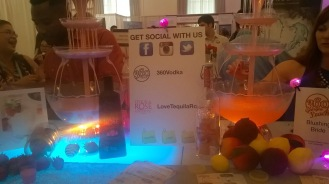 Tequila Rose & 360 Vodka Table at NYC's Wedding Salon 2015 at the Affina Hotel